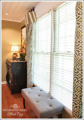 Modern Window treatment ideas from Jennifer Decorates.com
