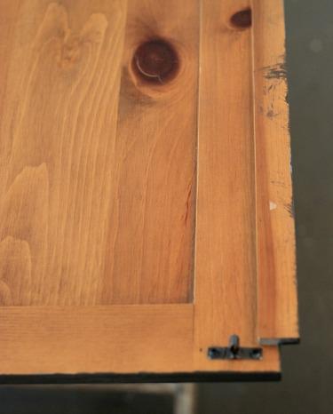 DIY Restoration Hardware look using acrylic paints.  Cheap and Easy.  Jennifer Decorates.com