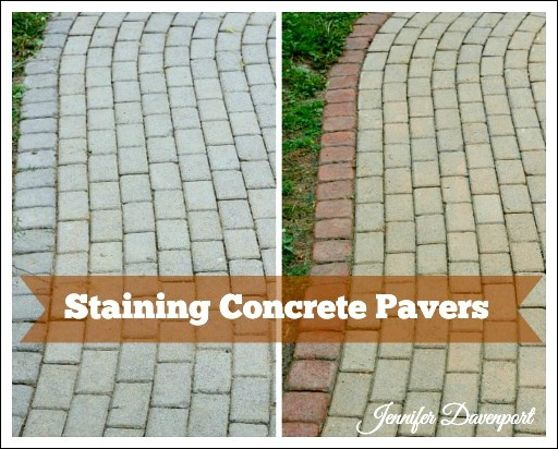 So, I Used Concrete Stain, And Gave Them A Gorgeous Makeover! Read On And  See How In Just A Few Hours, It Looks Like I Have A Brand New Sidewalk!