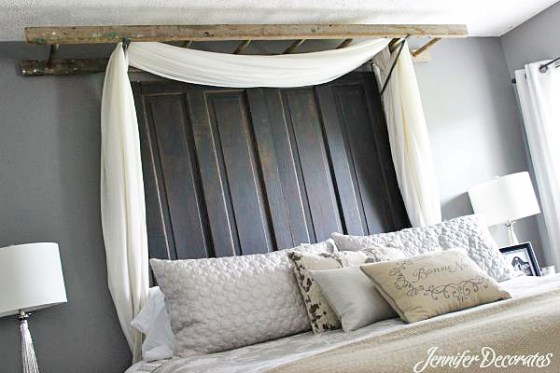 Unique headboard idea from Jenniferdecorates.com