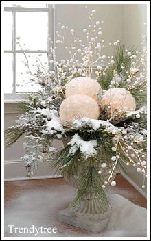 Delicieux This Is Such An Easy Idea, And Just Goes To Show You That White Christmas  Decorating Ideas Can Be Affordable. Whether You Use Real Greenery Or  Artificial ...