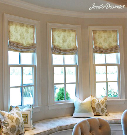 valance window treatment ideas room roman shades were made to sit inside each individual window are the most expensive valance have made it does require more fabric than window valance ideas jennifer decorates