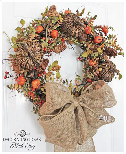 Wreaths For Fall, Learn To Make A Wreath