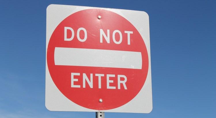 Don't enter