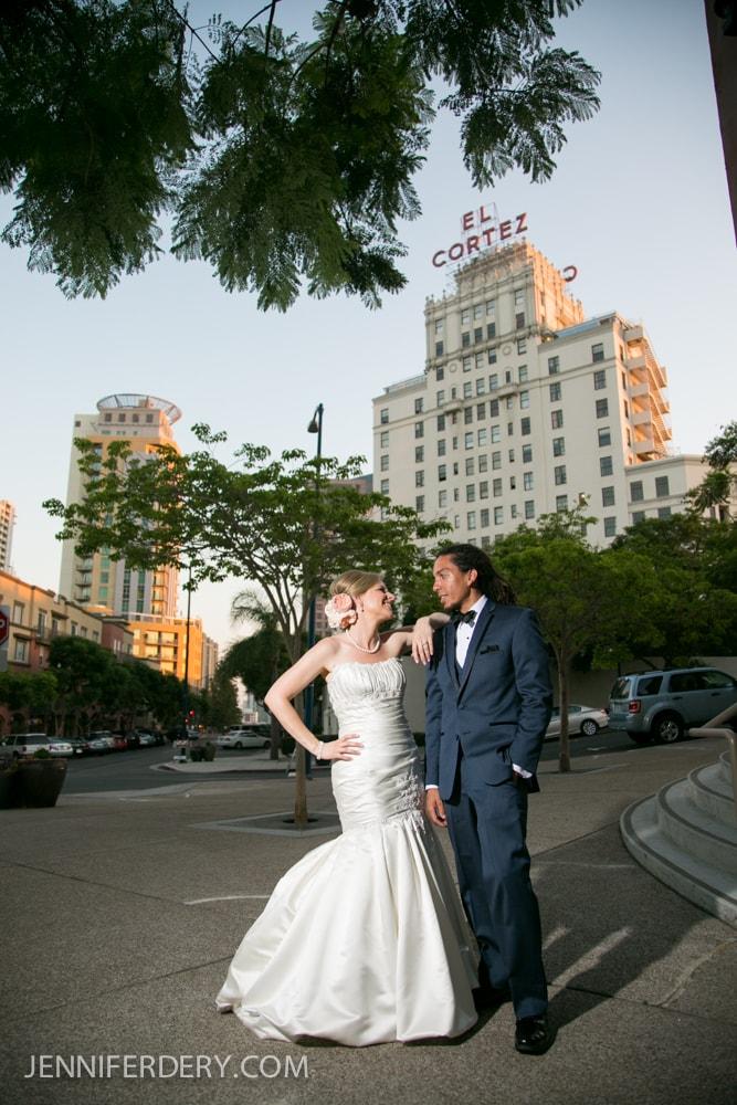 El Cortez Wedding San Diego: Sergio + Jene