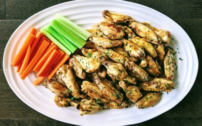 Salt & Vinegar Chicken Wings (Gluten Free, Keto, Paleo)