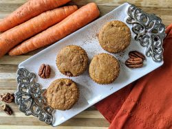 Gluten Free Carrot Pecan Muffins Paleo Low-Carb