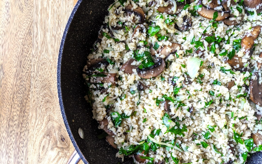 Cauliflower Mushroom Rice (Grain Free, AIP, Low-Carb)