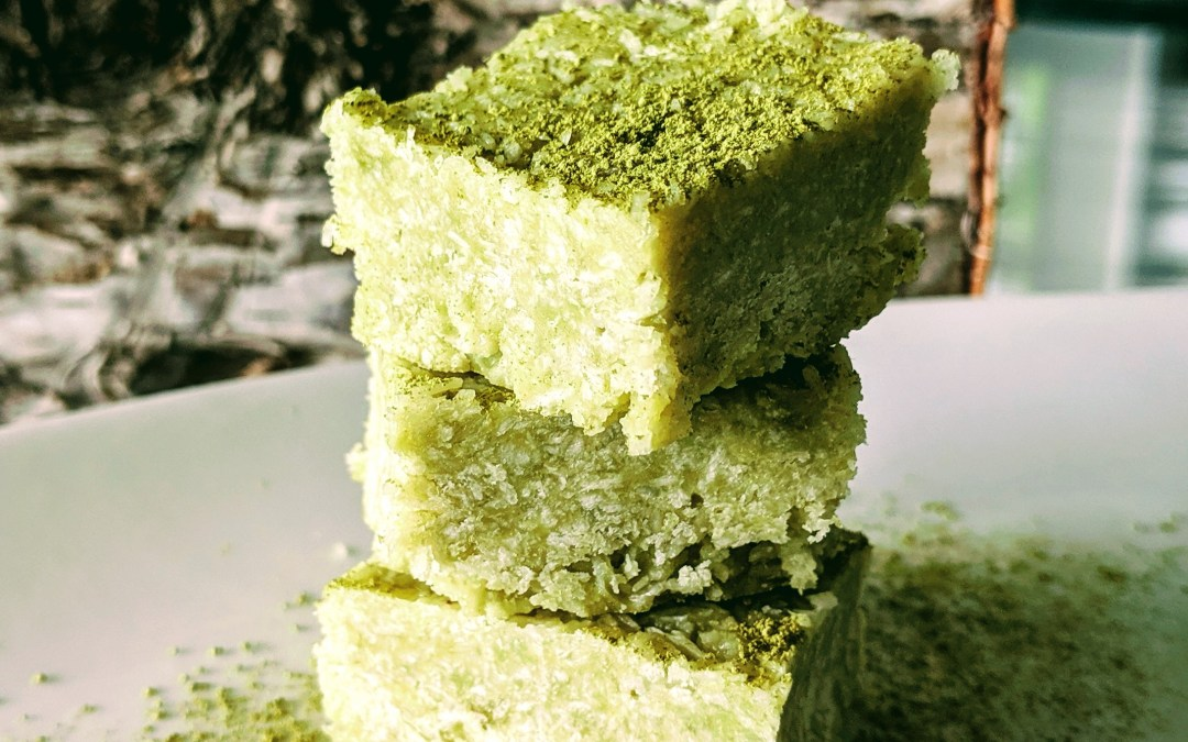Creamy Matcha Bars (Gluten & Grain Free, Naturally Sweetened)