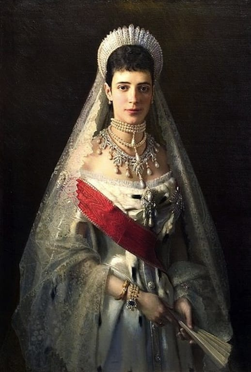 The Empress in formal dress