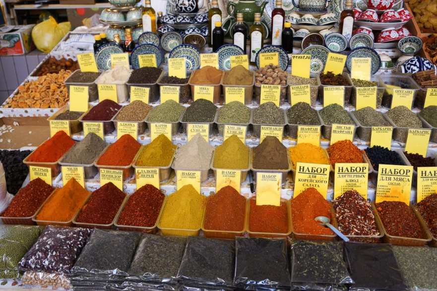 Central Asian, Russian, and Caucasian Spices sold in bulk at Danilovsky Market