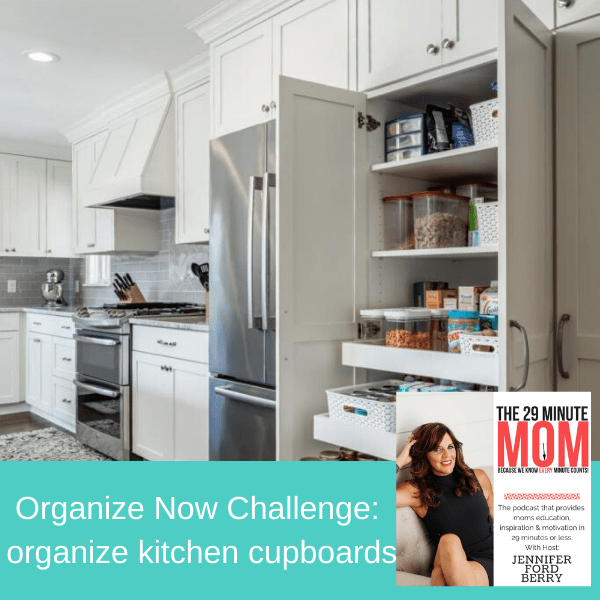 organize kitchen cupboards