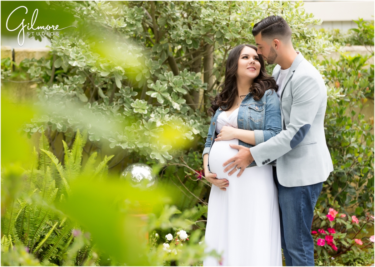 Maternity Session In The Garden Orange County