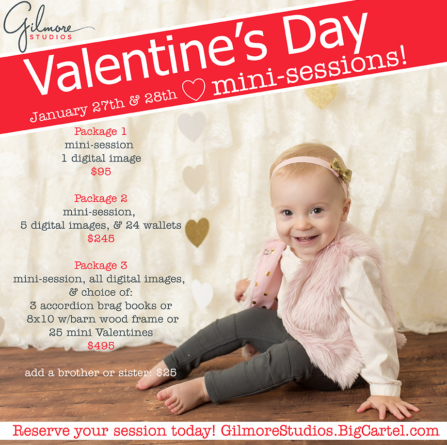Gilmore Studios Valentines Day Mini Sessions 2017