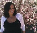 Jenn and crabapple blossoms