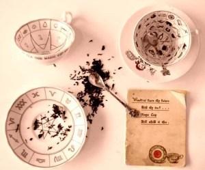 reading tea leaves
