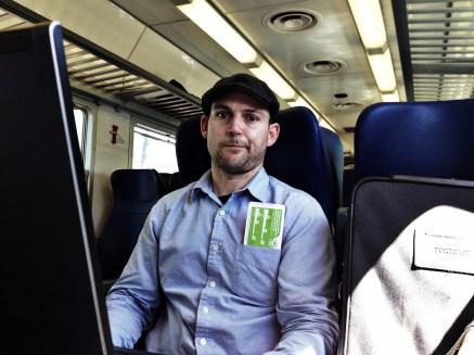 On the train to Cortona