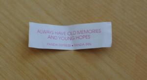 fortune cookie--old memories