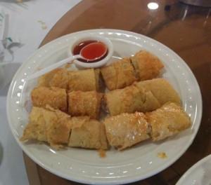 tofu wrapped shrimp roll