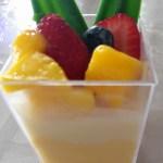 lychee mango mousse