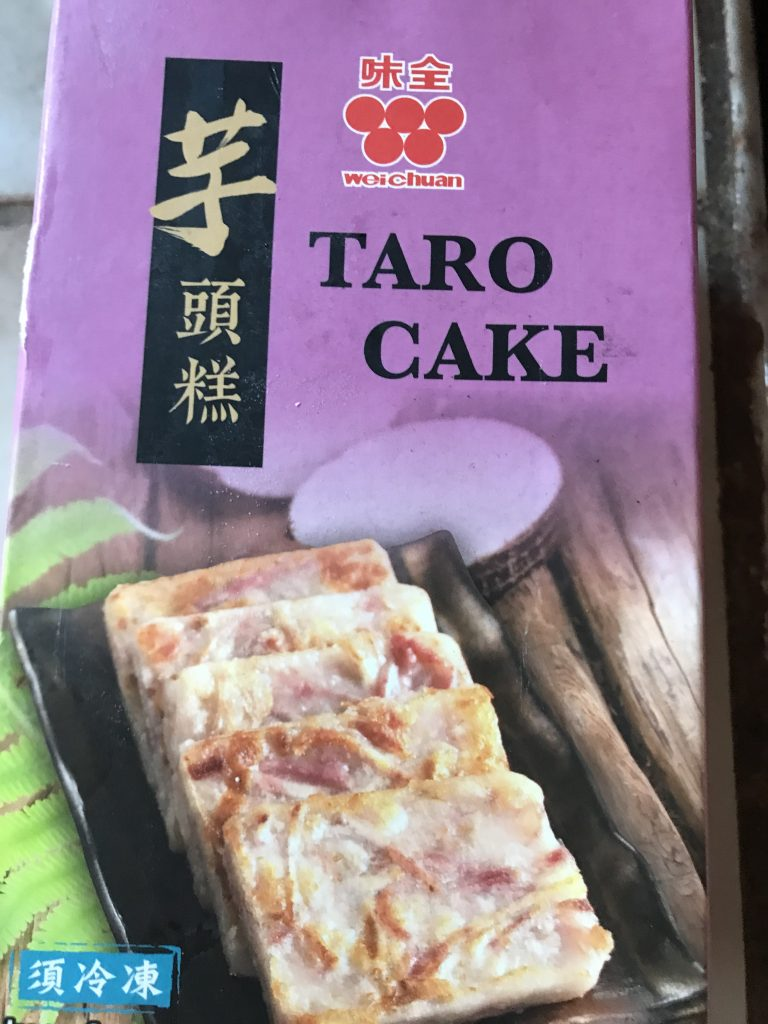 taro cake package