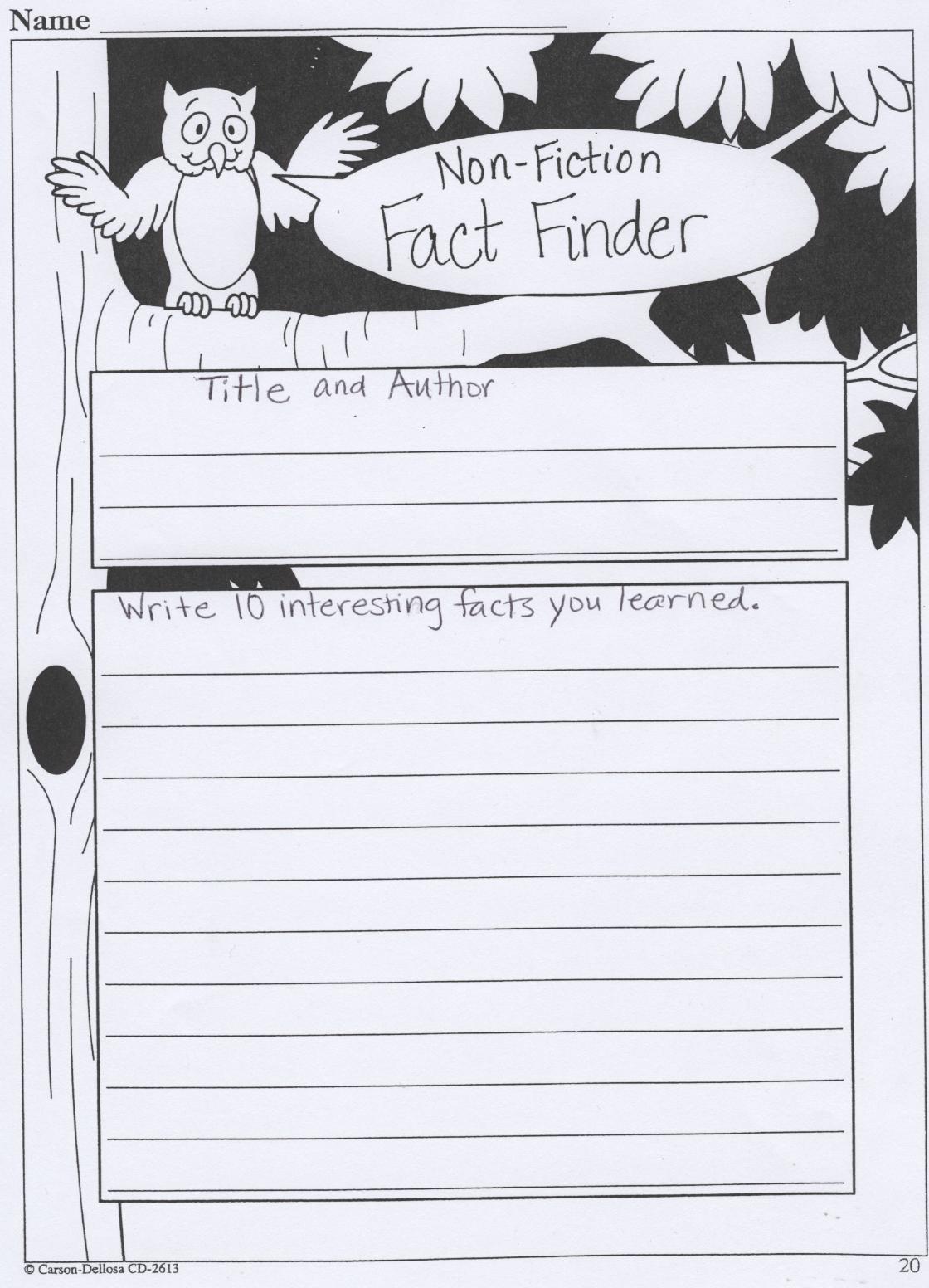 3rd Grade Book Report Template