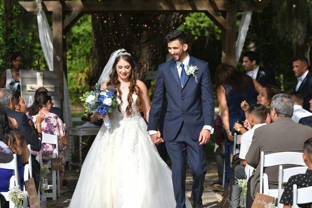 Blueberry farm wedding in Mims