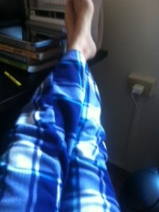 My favorite new pajama pants (from The Gap, BTW).