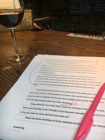 Writing 'Sex and the City': The Editing Phase
