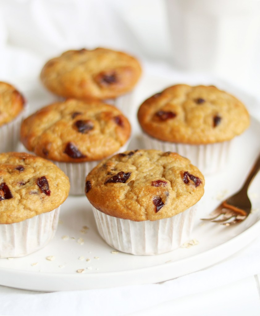 Appel Cranberry Protein Muffins