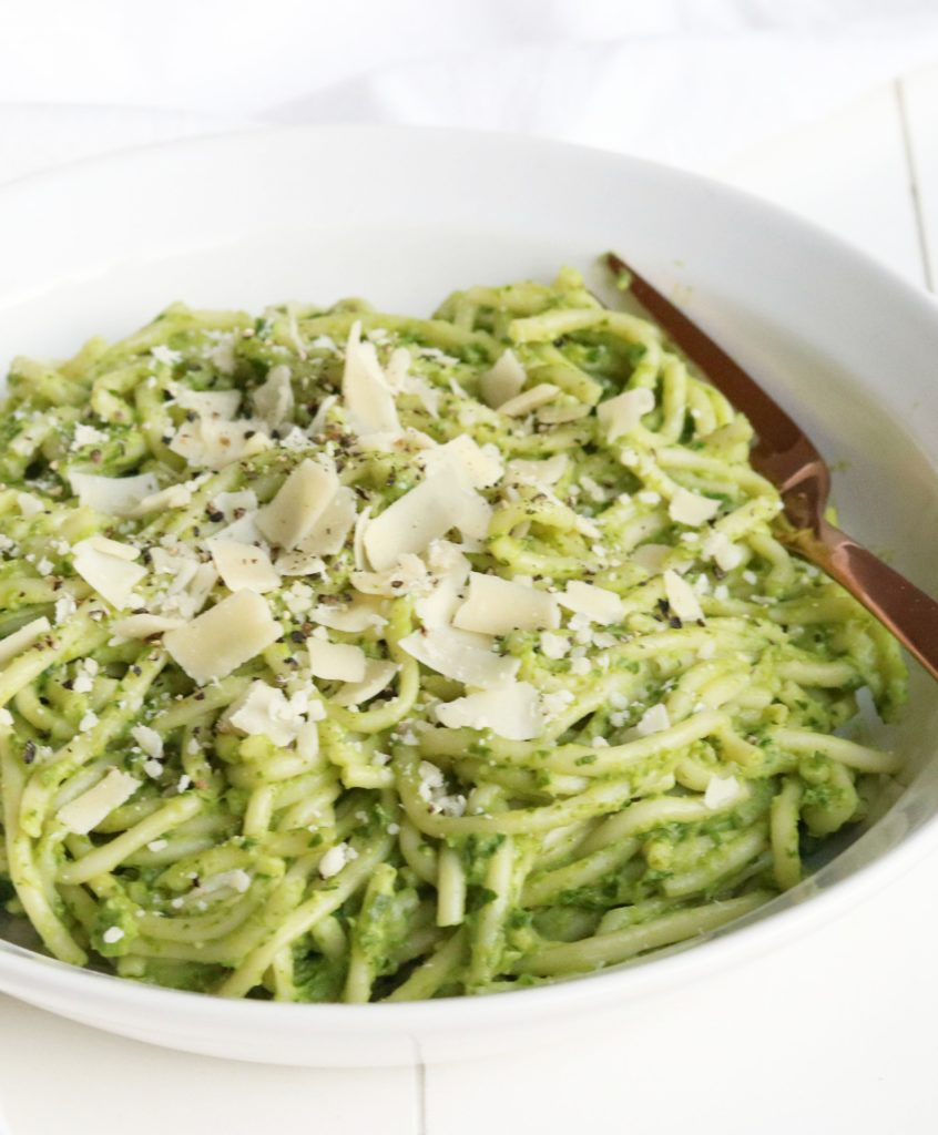 Romige Avocado-Spinazie Pasta