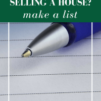 Using a Pro/Con List to Sell Your House