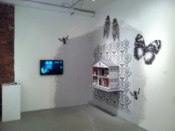 "Documentation of my work in the group show ""Blueprints"" At Centre 3 for Print and Media Arts, Hamilton."