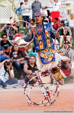 Phoenix, Arizona, USA. 14th February, 2016. Scott Sixkiller Sinquah competes in the final round of the 27th Annual World Championship Hoop Dance Contest. © Jennifer Mack/Alamy Live News