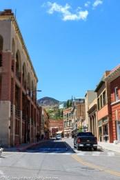 The main street in Bisbee, AZ.