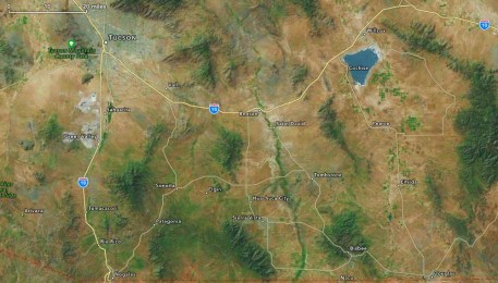 Map of Southeastern Arizona.