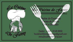 Carte de visite La Cuisine de Fanny (1)