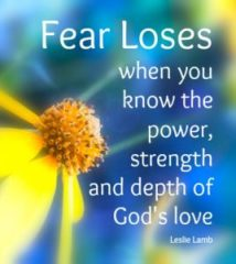 fear loses leslie lamb quote