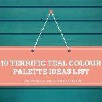 10 Terrific Teal Colour Palette Ideas List