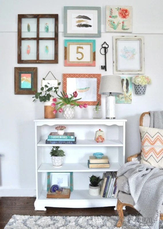 How to make a collage gallery wall with color and texture