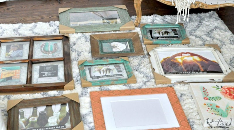 How to lay out a gallery wall collage using frames