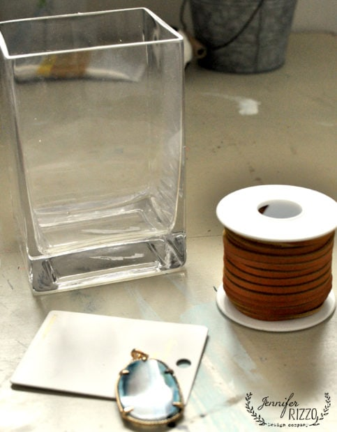 Supplies for a boho embellished vase