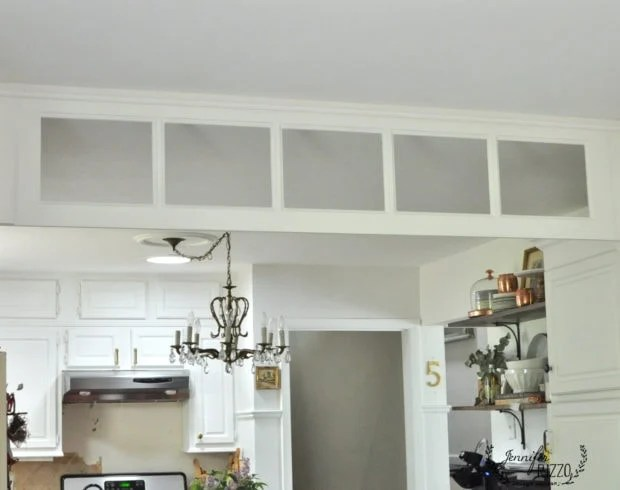 Vintage french door turned into a kitchen transom window