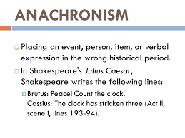Anachronisms 1