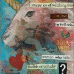 Artist Trading Card - Pencil Drawing, Ink, Acrylic, Mixed Media Collage by Jennifer Shipley