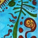 Artist Trading Card Ink Drawing by Jennifer Shipley