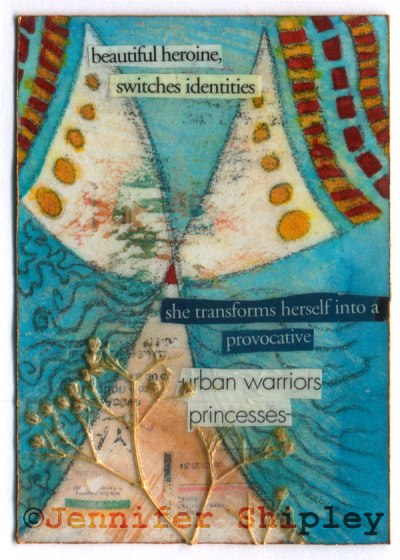ATC Mixed Media Collage by Jennifer Shipley