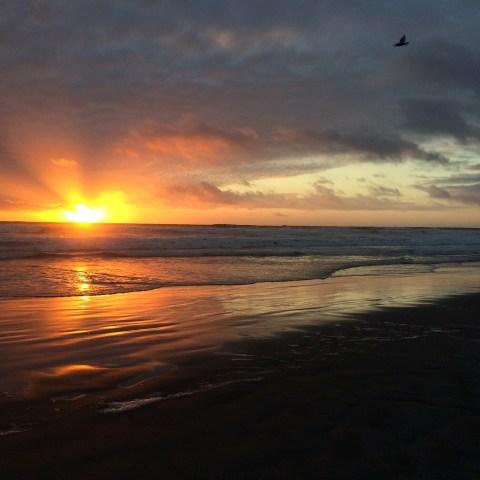 Sunset at Westport, WA