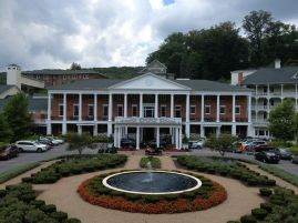 The Bedford Springs Resort is a very beautiful, decadent and expensive place to stay! This resort is huge! And filled with lots of staircases, rooms, seating and historical documents and photos you can check out to find out about the resort's history and the people who stayed there. (Photo by Jennifer Sopko)(Photo by Jennifer Sopko)