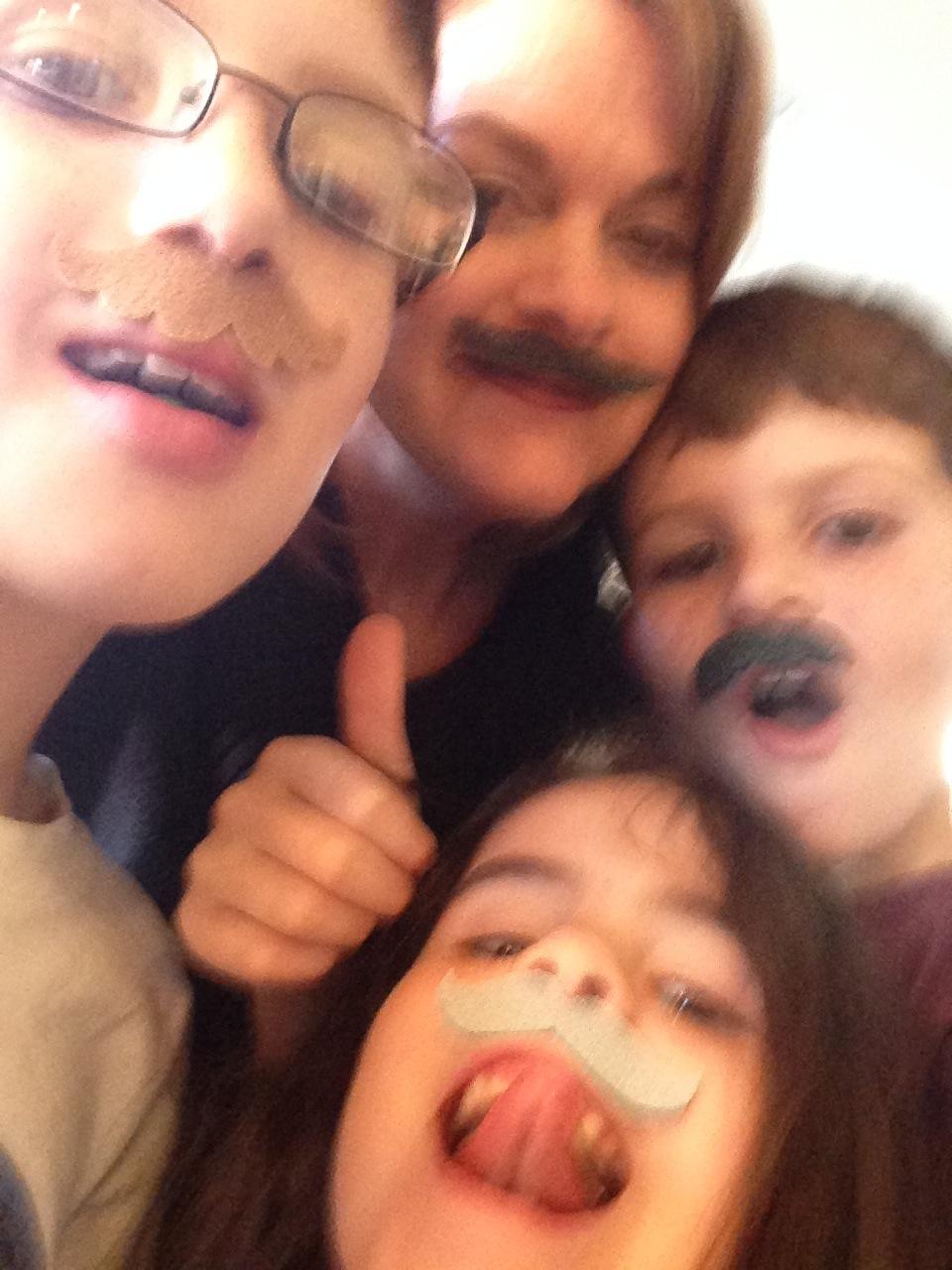 mustache mom